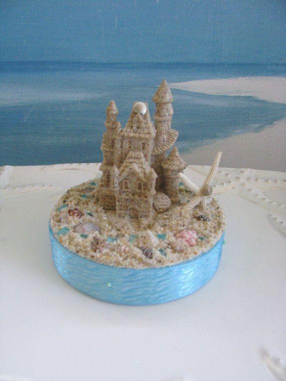 Sand Castle Wedding Cake Topper Seashell TopperStarfish