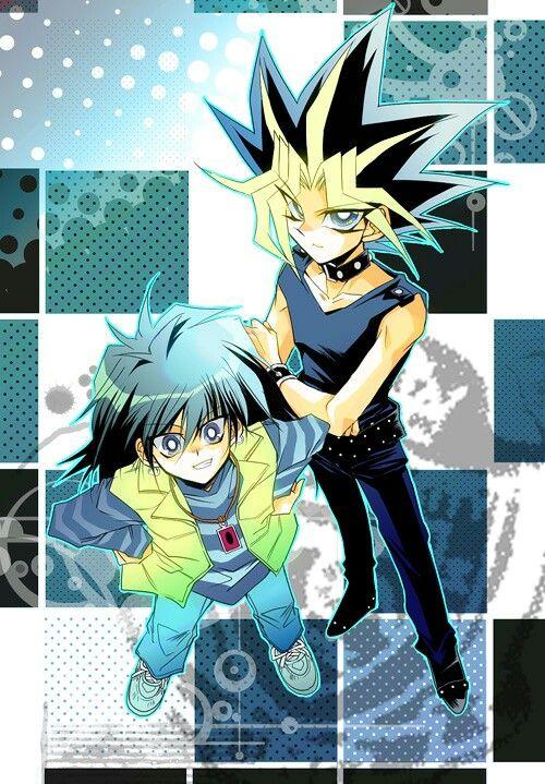 Yami Yugi And Mokuba Yugioh Anime Cartoon