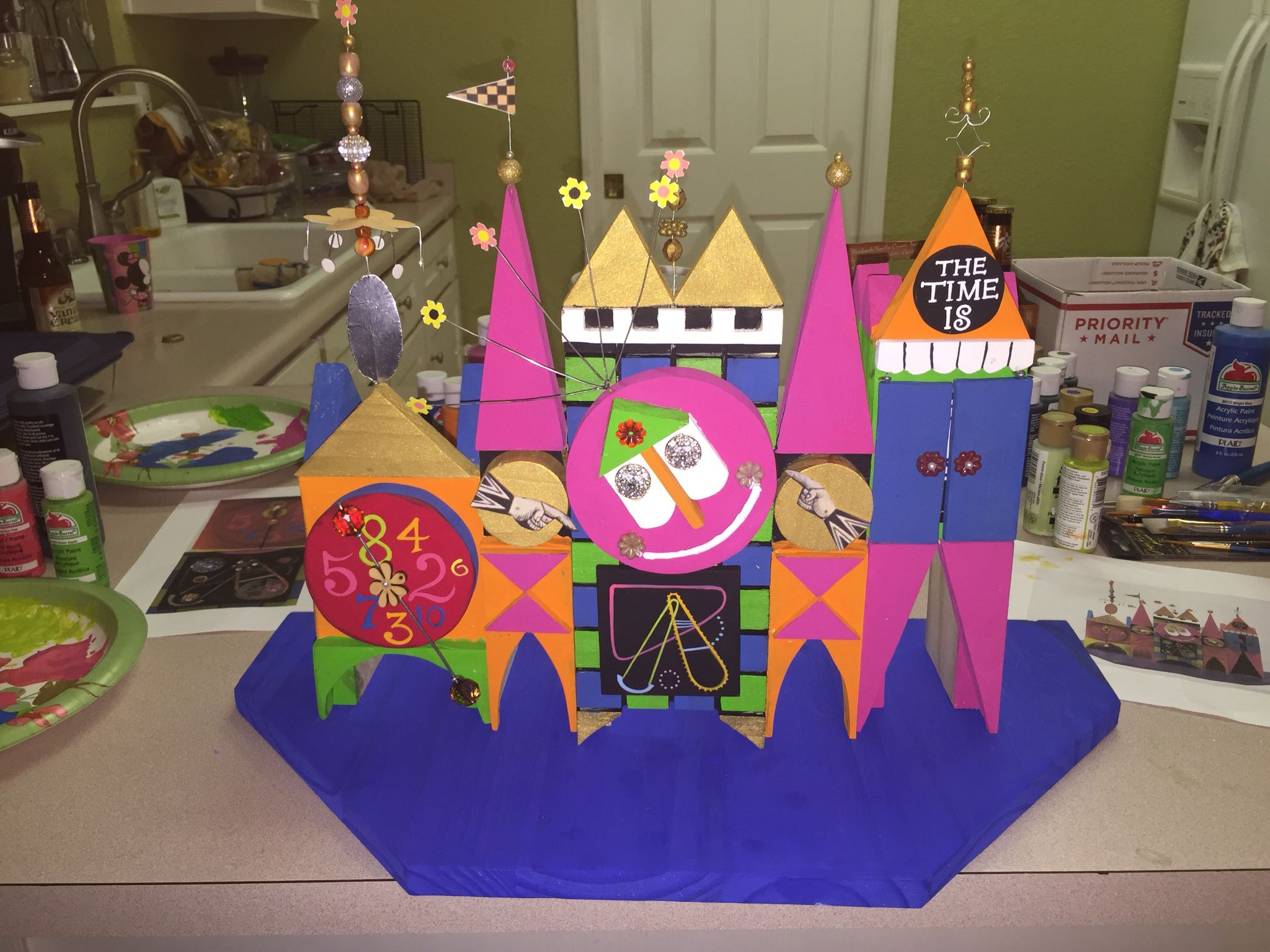 This is a replica of Rolly Crump's It's A Small World model Made by Jeff W. Boyd