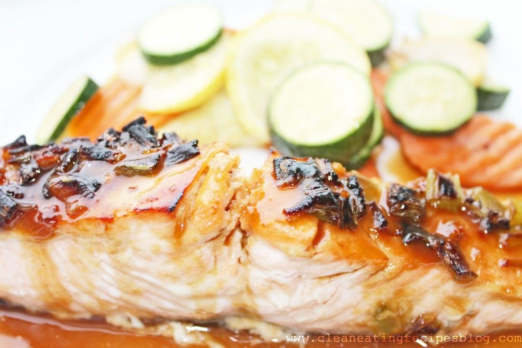 Clean Eating Recipe – Sweet Ginger Glazed Salmon | Clean Eating Recipes #healthyrecipe #recipe