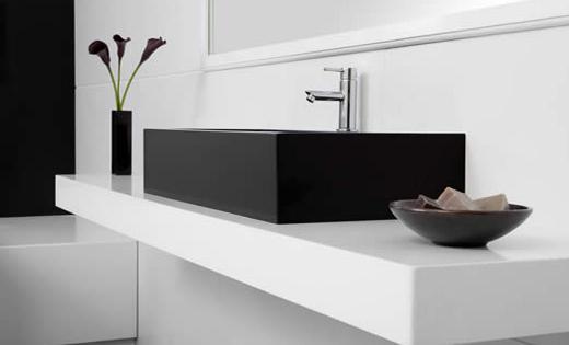 ein waschtisch l sst sich mit caesarstone wie mit kaum einem anderen material realisieren. Black Bedroom Furniture Sets. Home Design Ideas