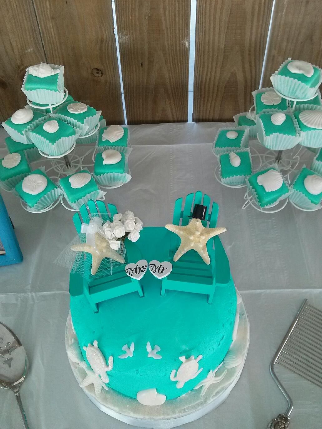 Beach Themed Cake And Petit Fours Js Pastry Shop In Pensacola