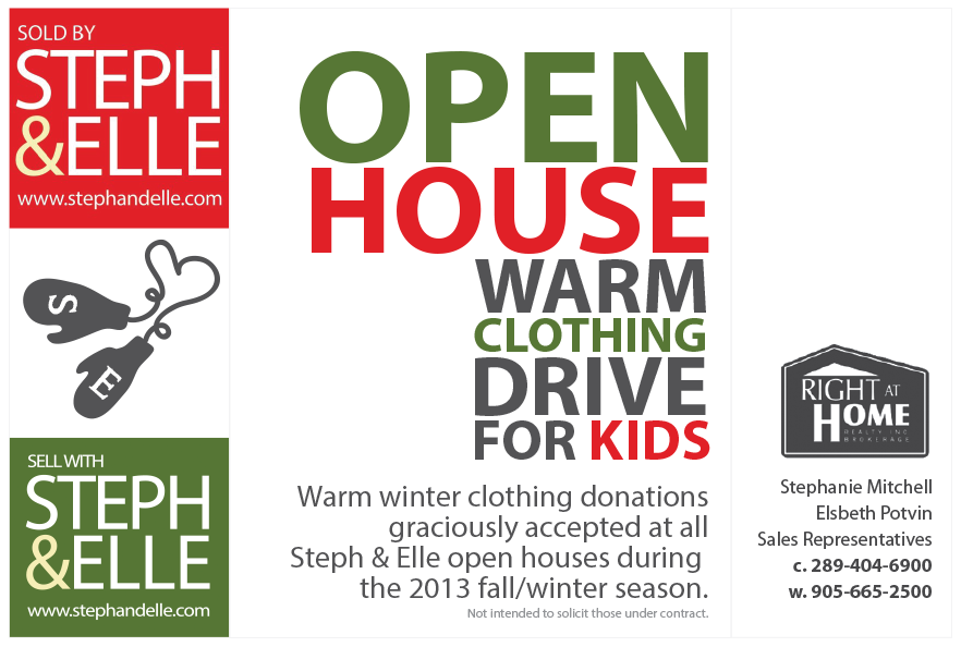 Open House Warm Clothing Drive With Steph Elle Right At Home Realty Inc Brokerage Warm Outfits Open House Winter Outfits Warm