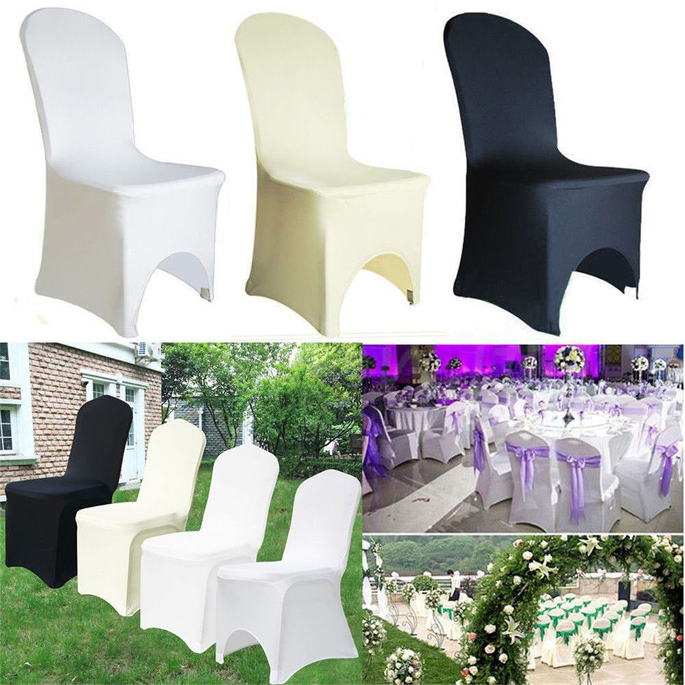 Groovy 50 100 Universal Wedding Chair Covers Polyester Spandex Flat Andrewgaddart Wooden Chair Designs For Living Room Andrewgaddartcom