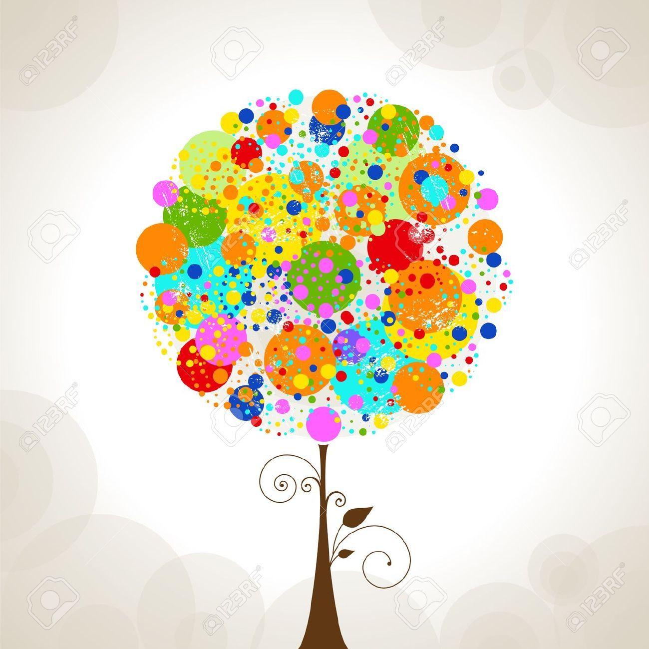 arbol de la vida dibujo a color - Buscar con Google | Tree icon, Abstract  tree, Tree doodle