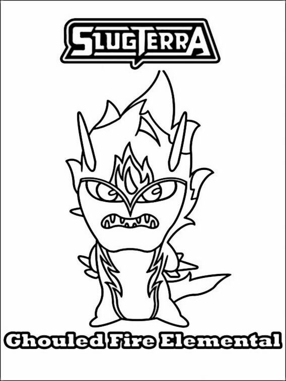 Slugterra Fire Elemental Page Coloring Pages