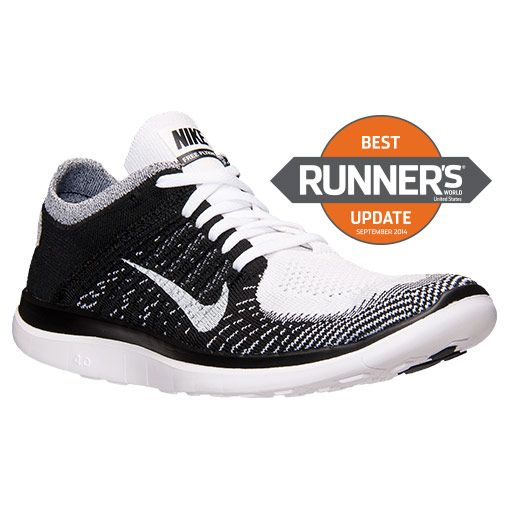 nike free 4.0 flyknit white/black/volt womens shoes