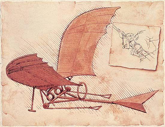 Leonardo Da Vinci Sketched A Flying Machine Four Centuries Earlier