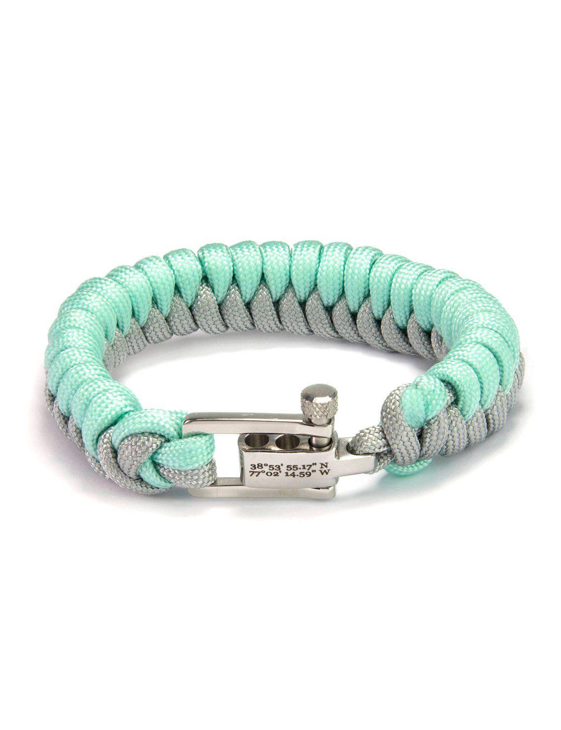 Personalized Survival Bracelet Custom Coordinate