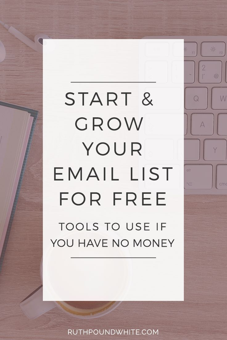 Great Tools To Use If You Have No Money To Start Growing Your Email List! /