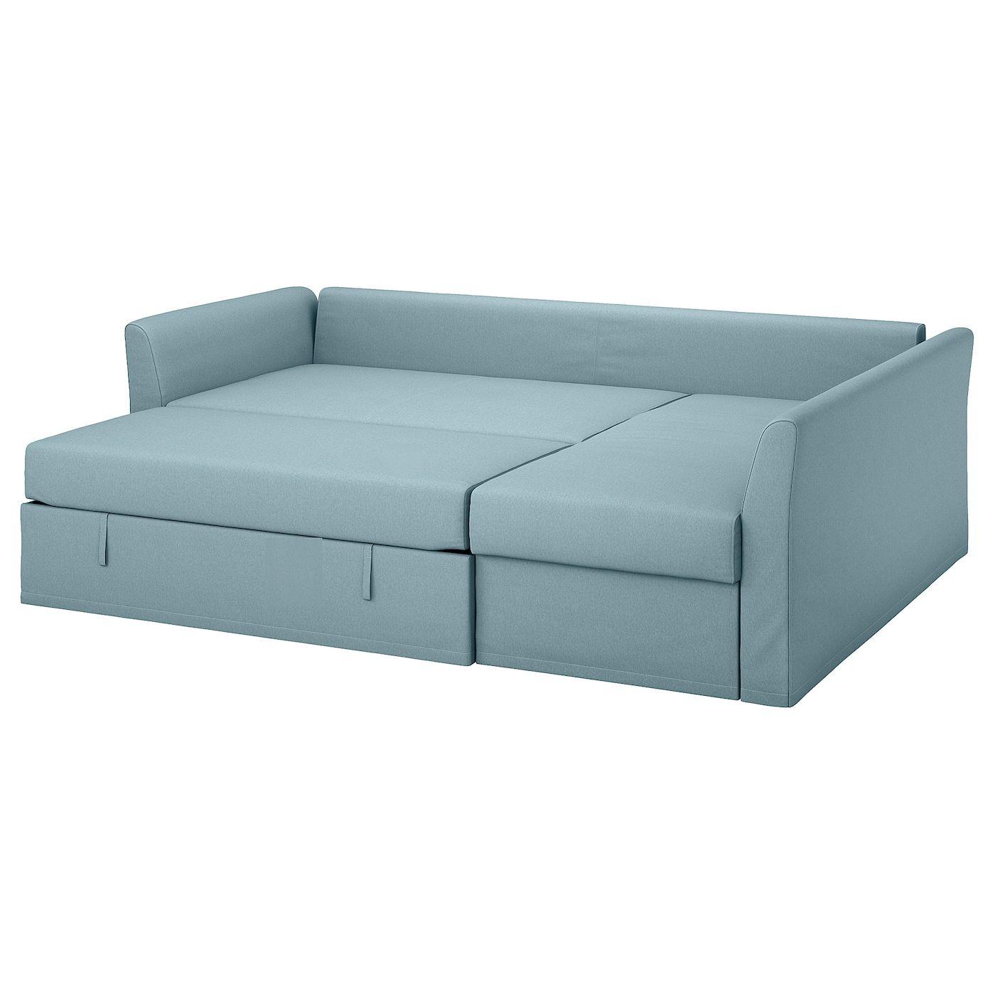 Ikea Holmsund Corner Sofa Bed Orrsta Light Blue In 2020 Sofa Bed Frame Corner Sofa Sofa
