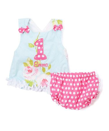 Another great find on #zulily! Pink Personalized Maggie Sundress & Bloomers - Infant #zulilyfinds