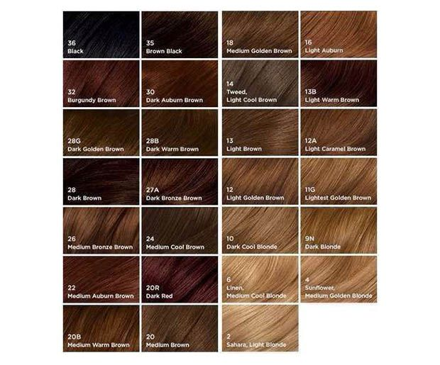 all hair colors chart: These hair color charts will help you find the perfect shade every