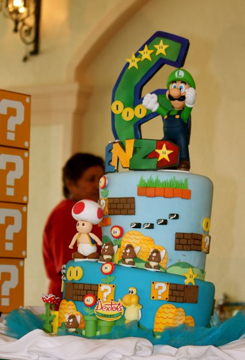 super mario bros cake Tumblr Beautiful Cakes Pinterest