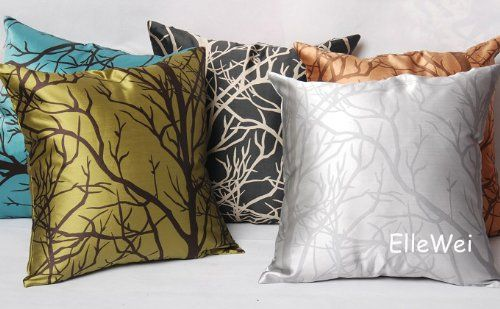 Elleweideco Modern Silver Gray Throw Pillow Cover Http Www