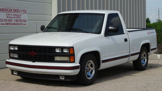 1989 Chevrolet Chevy Shortbed Sport Truck Pickup Low Mileage Not Sport Truck Custom Chevy Trucks Chevy