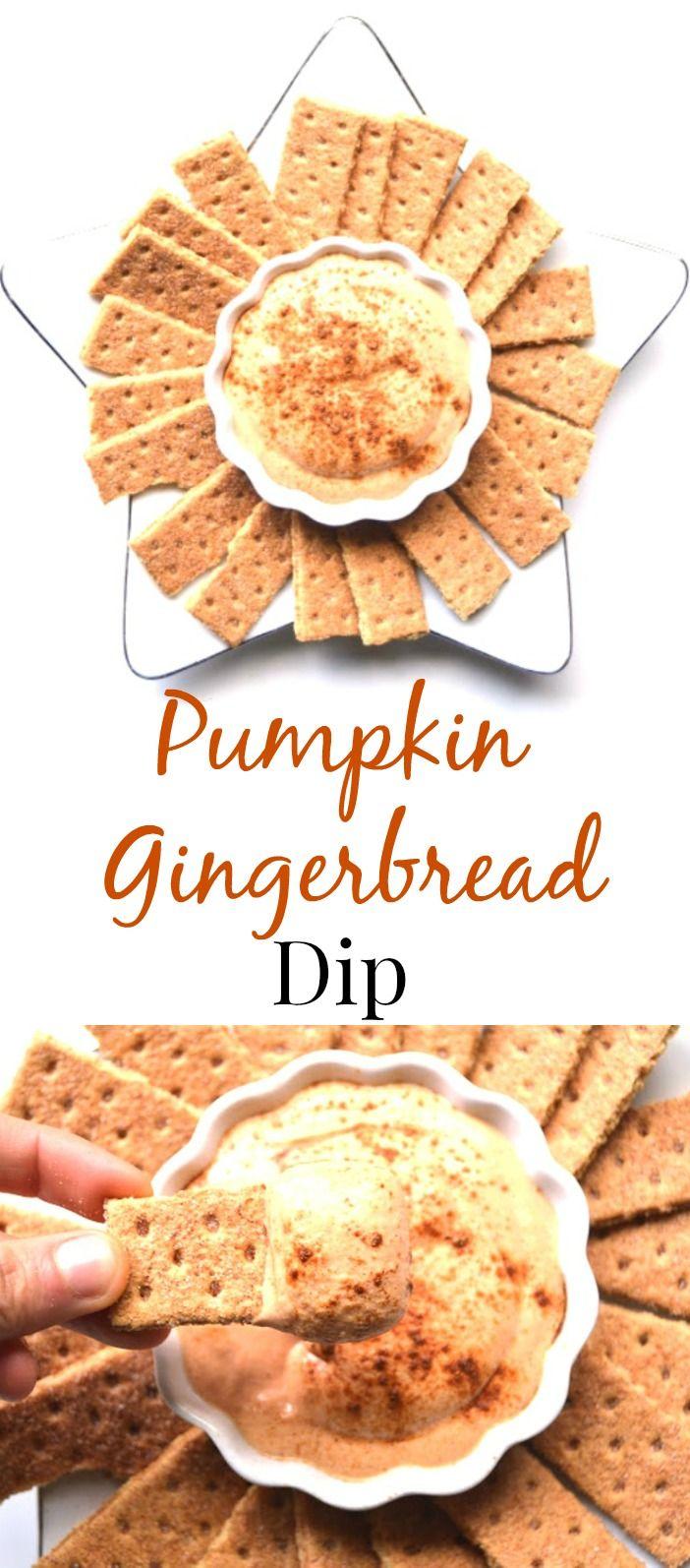 Pumpkin Gingerbread Dip Pumpkin gingerbread, Healthy