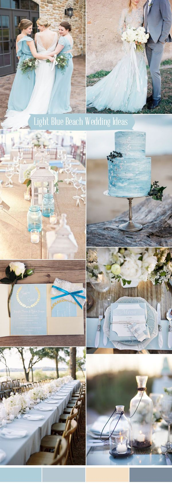 Wedding colors for a beach wedding  Ten Prettiest Shades of Blue for  Wedding Color Ideas  Blue