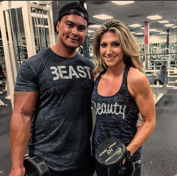 Beauty And Beast Shirt Set Couples Workout Burnout Tops Mens Gym