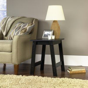 Best His Bedside Table Mainstays End Table Black Oak Finish 400 x 300