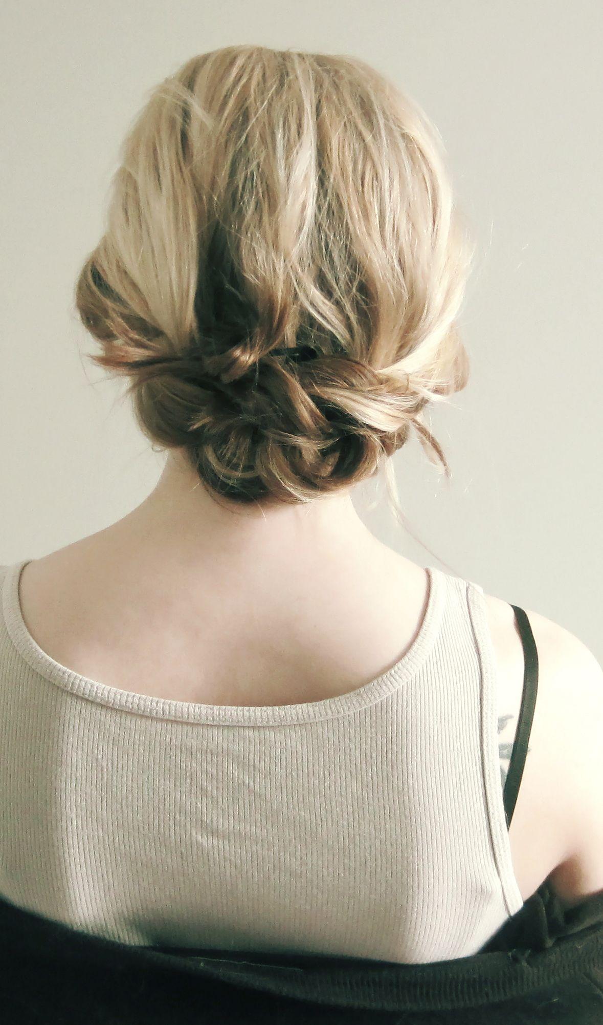 messy braid bun for thin, fine hair. | fashion | pinterest | messy