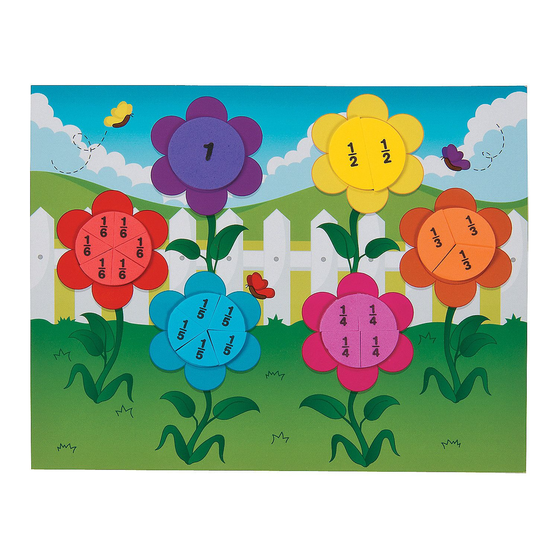 Fraction+Flower+Garden+Craft+Kit+ +OrientalTrading.com   Garden ...