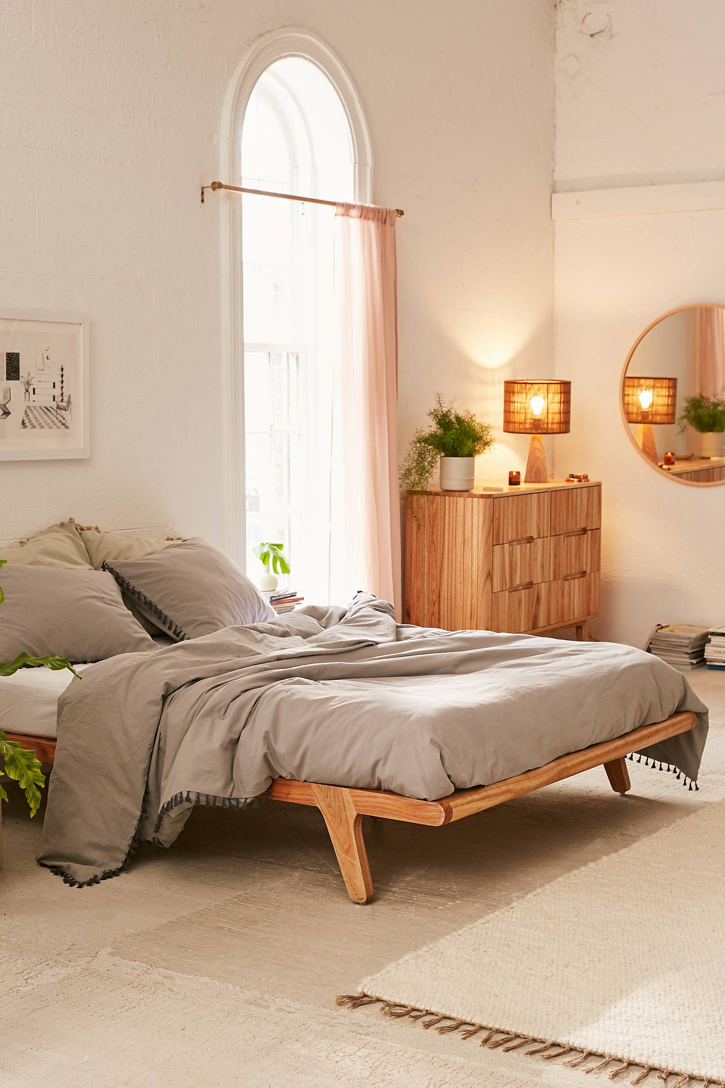 Petra Platform Bed Frame Home Bedroom Apartment Decor Minimalist Bedroom