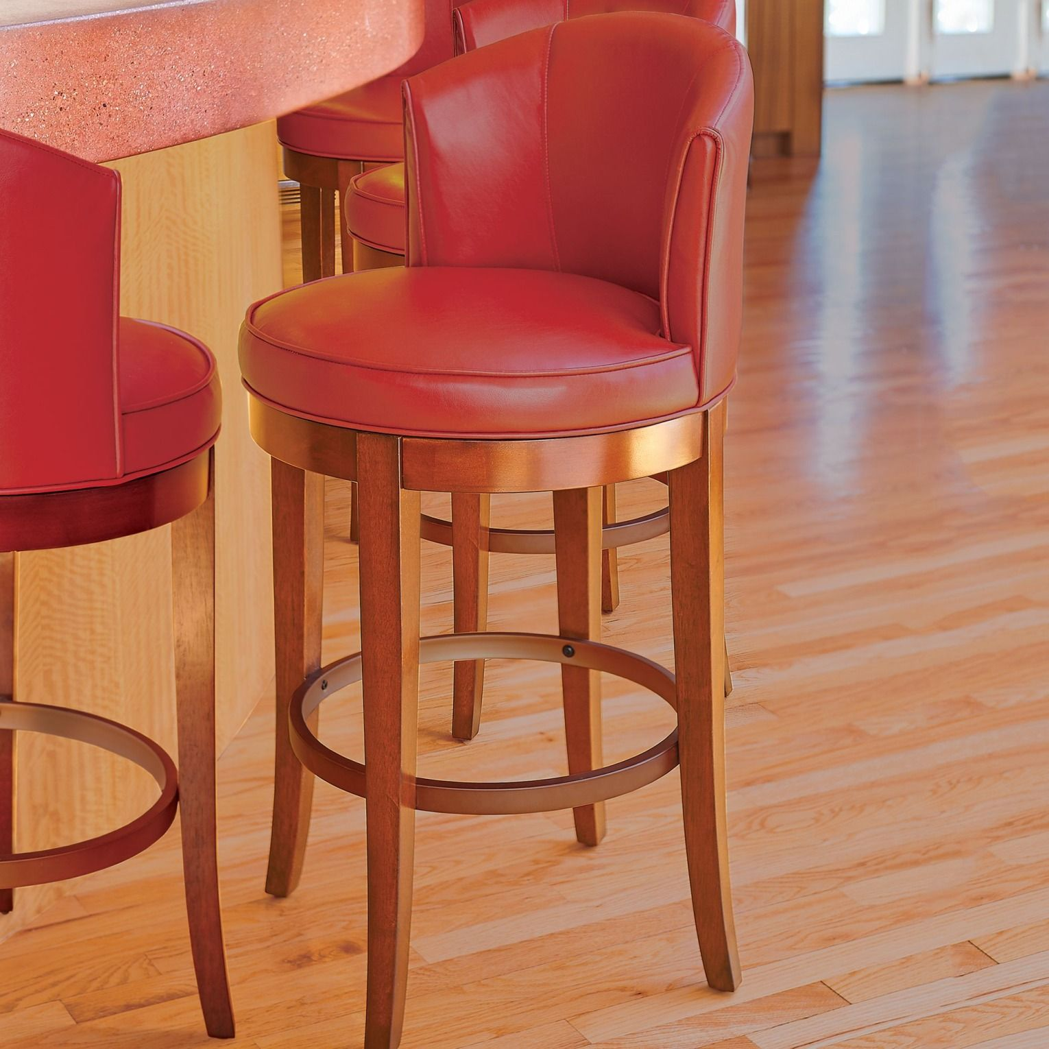 Our Faux Leather Bar Stools With Backs Swivel 360 Degrees