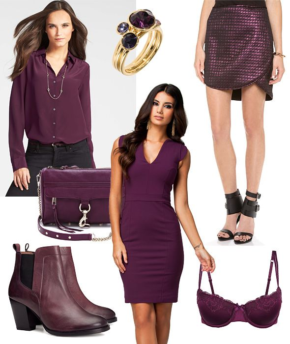 Plum colored party outfit
