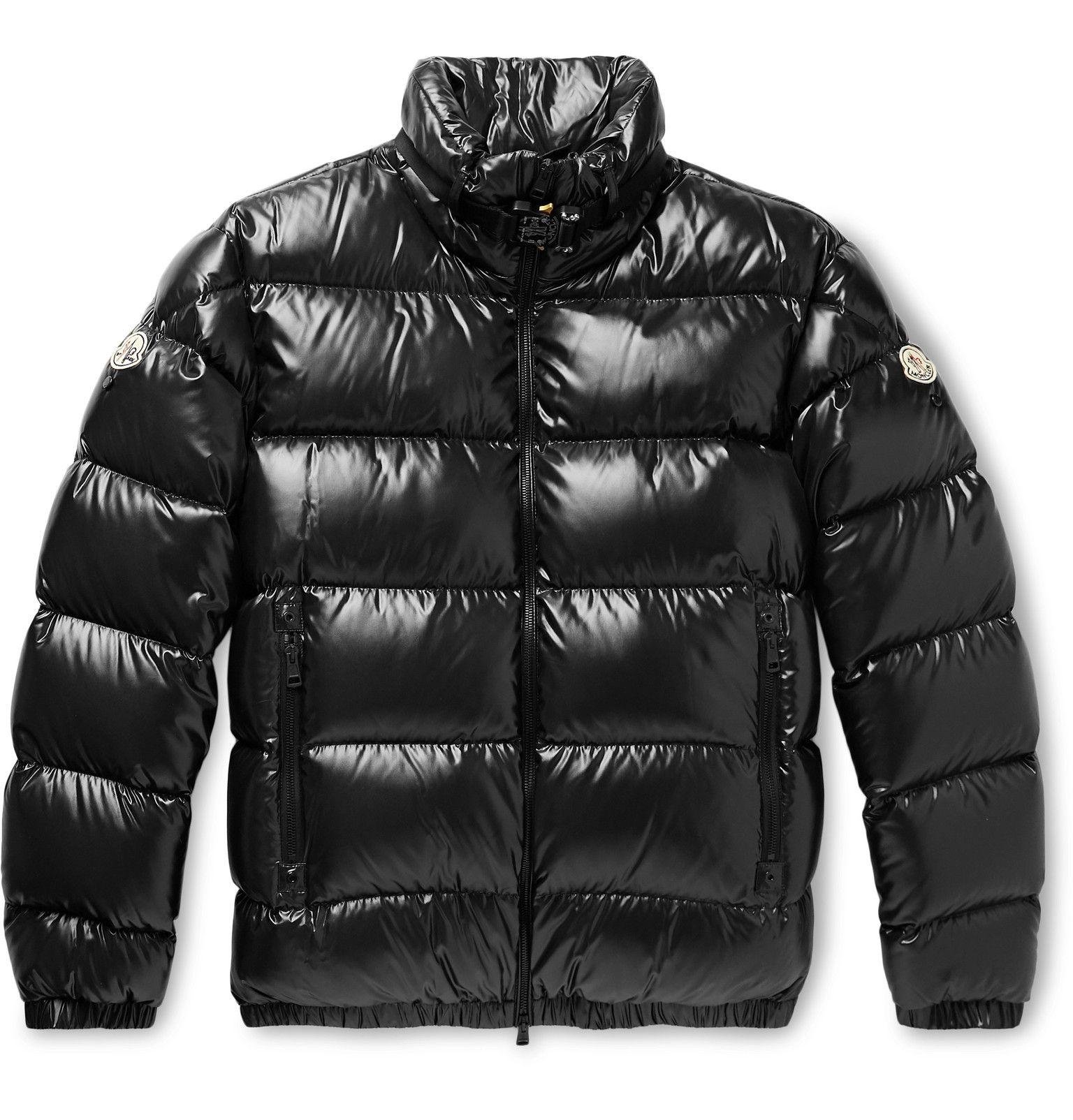 Moncler White & Black Down Nil Jacket SSENSE (With