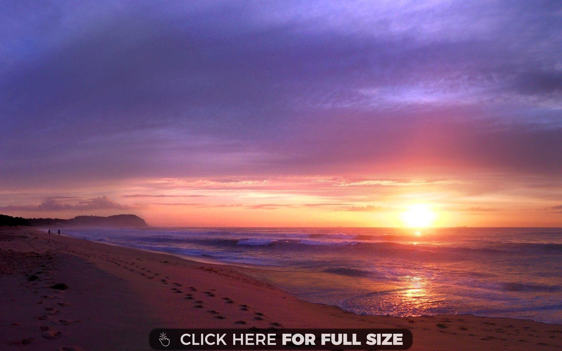 sunset beach purple desktop wallpapers beach sunset wallpaper rh pinterest com
