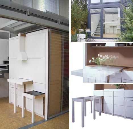 Fold Out Kitchen Table And Dining Room Combination Design By Melanie Olle Ilja Oelschlagel