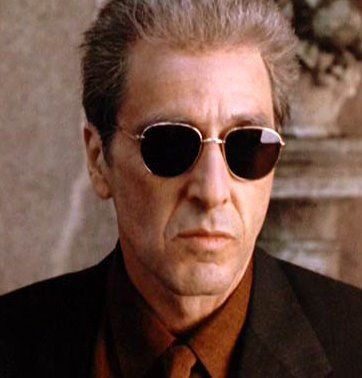 Al Pacino S Bold Sunglasses From The Godfather Part 3 Mens