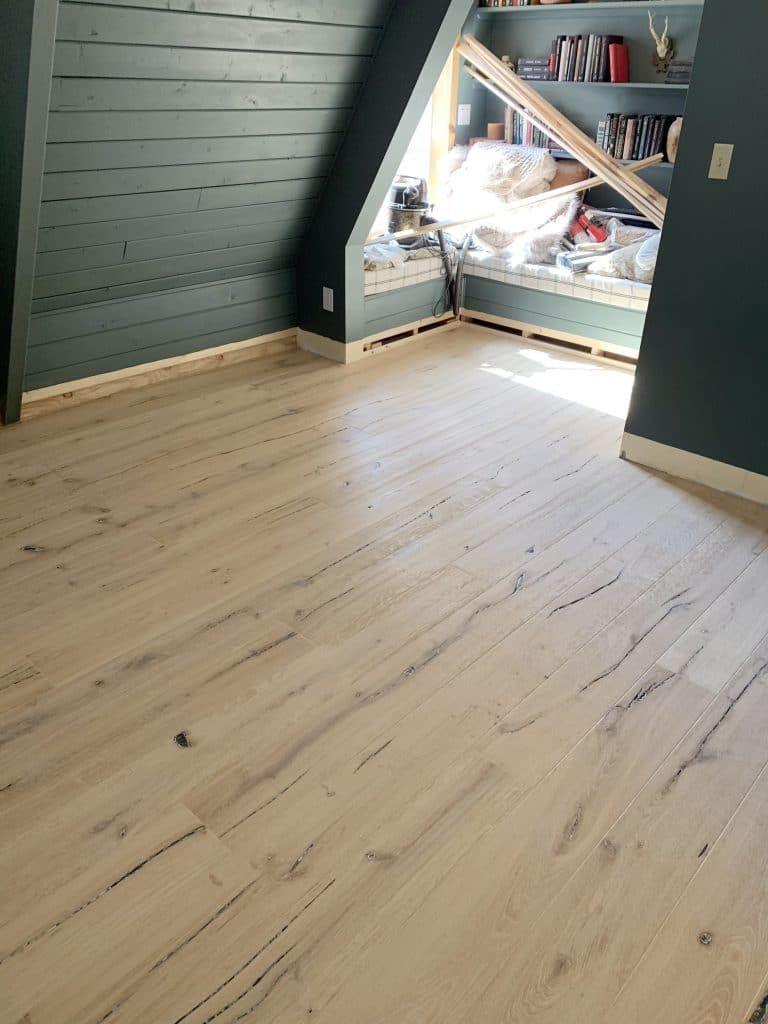 The Wood Floors At Our Cabin Flooring Engineered Flooring Wood Floors