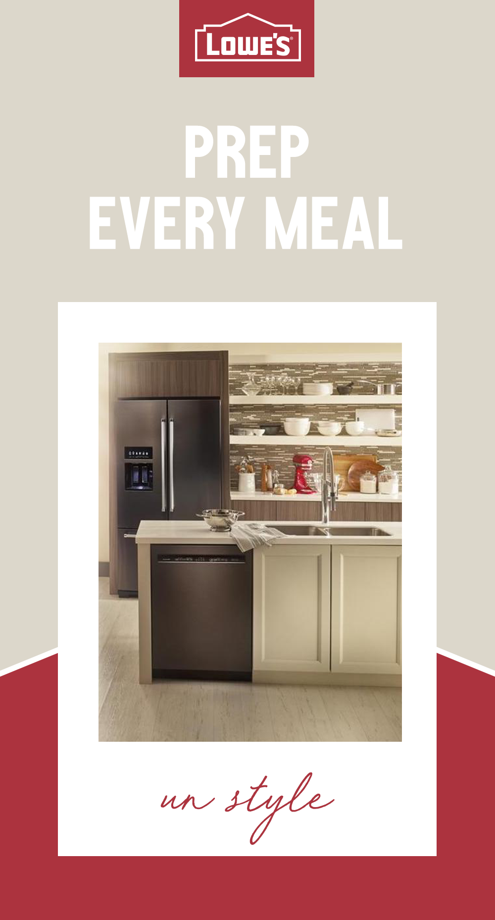 Lowe S Has Everything You Need To Create Your Dream Kitchen Visit Lowes Get Design Inspiration Make That A Reality Liances Homedecor