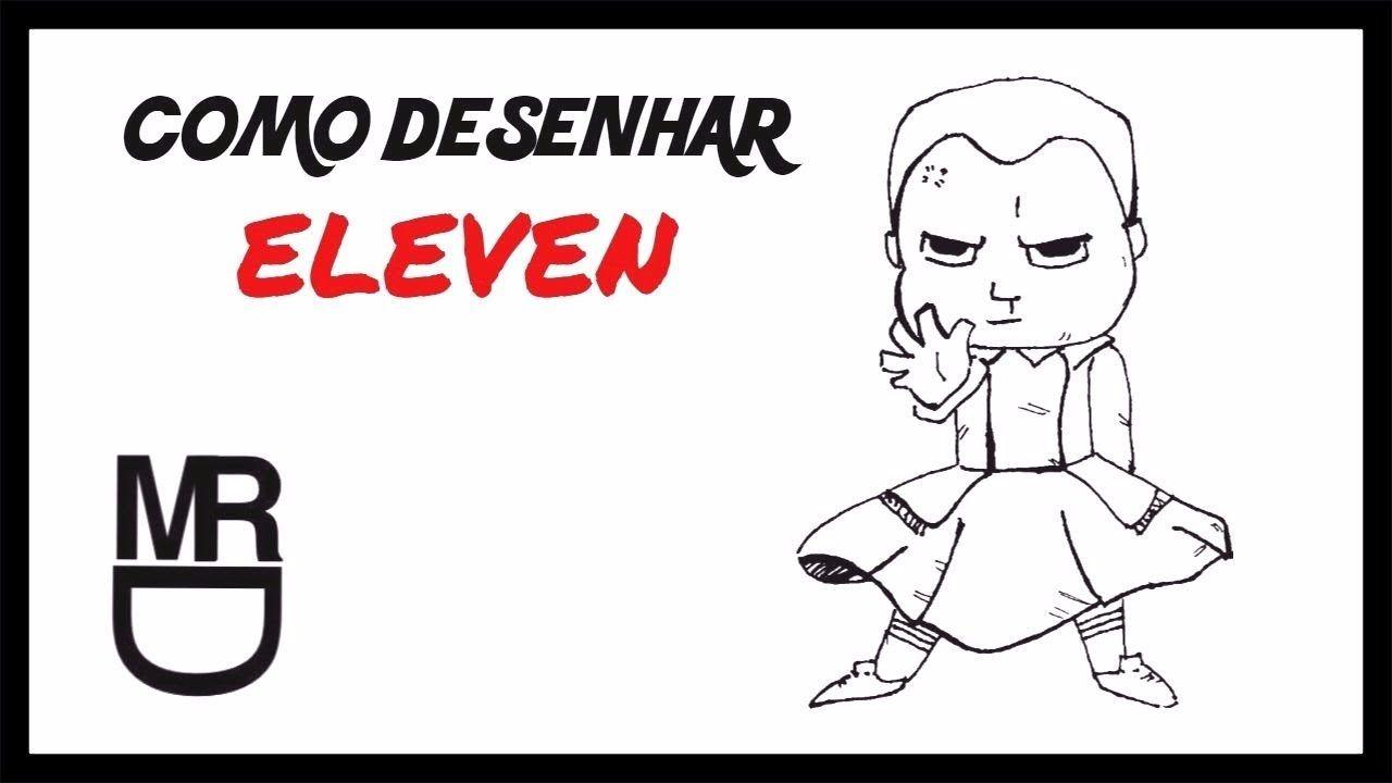 como desenhar a eleven chibi stranger things meu canal youtube