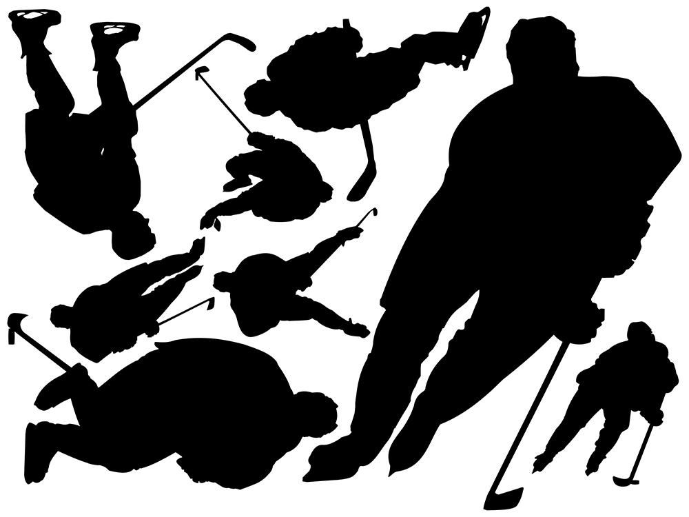 Hockey Wall Decal Collection | silhouette designs ...
