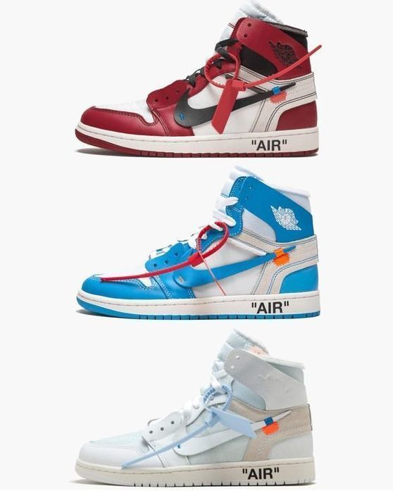 Air Jordan 1 OFF WHITE. Which Color Will You Choose