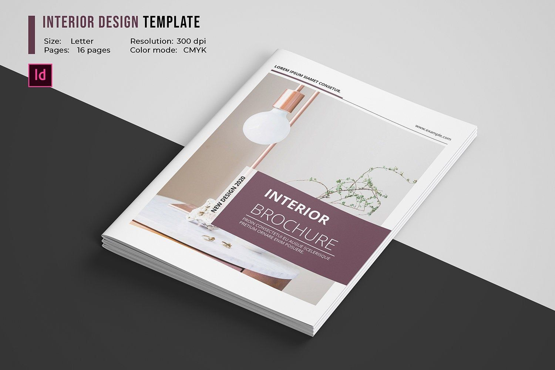 Interior Design Brochure Template   Interior Catalog ...