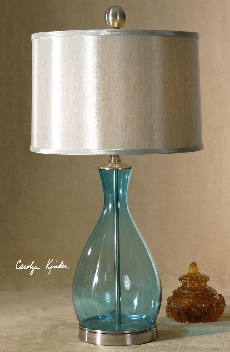 Meena Blue Glass table lamp #glass #meena #table | Glass