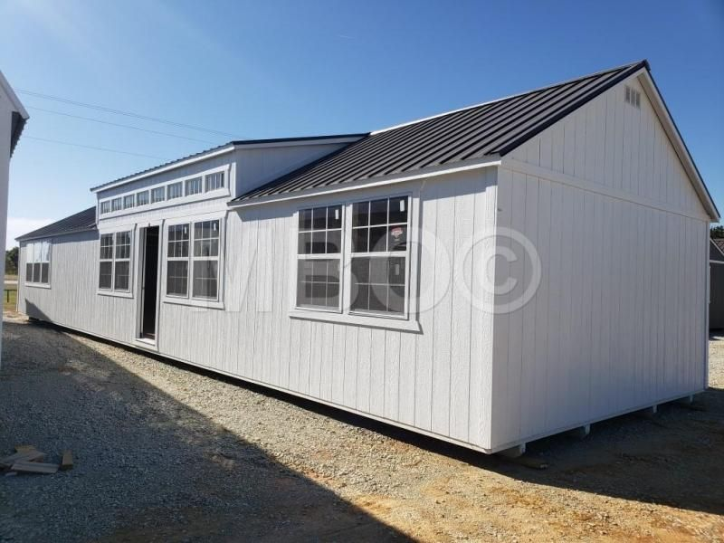 16x60 Utility Cabin Shed To Tiny House Portable Buildings Lofted Barn Cabin