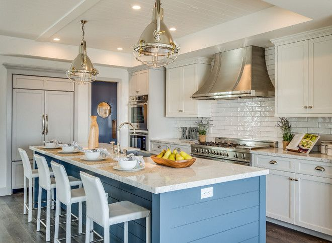 This Kitchen Features Three Benjamin Moore Paint Colors Gray