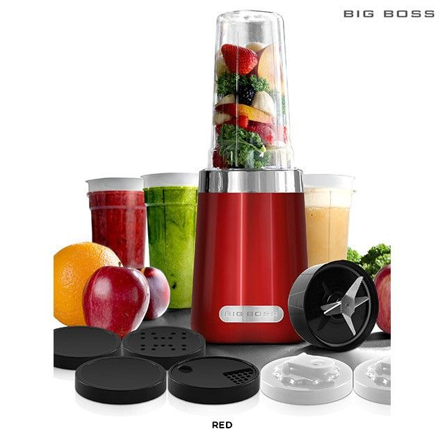 15-Piece Set: Big Boss Healthy Boss 600 Watt Power Blender, Juicer & Coffee Grinder - Assorted Colors