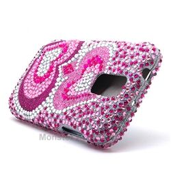 Click Image to Browse: $8.95 Pink Hearts Bling Rhinestones Hard Case Cover For Samsung Galaxy S2 (Hercules T989) T-Mobile
