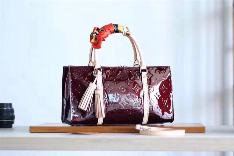 0a6a497a9fee Louis Vuitton Neo Triangle Bag Monogram Embossed Leather M94398 wine red  2018 Louis Vuitton Speedy Bag
