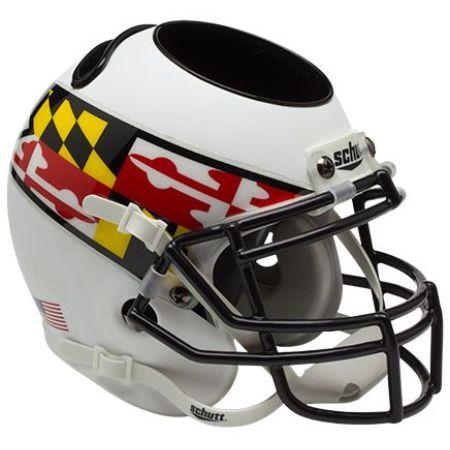 Maryland Terrapins Schutt Mini Helmet Desk Caddy - Alternate 3