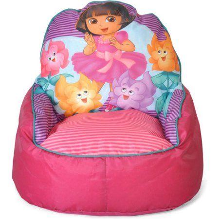 Nickelodeon Dora The Explorer Sofa Chair Pink Bean Bag Chair