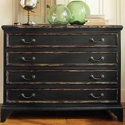 How to Achieve a Black Distressed Finish paint furniture  green
