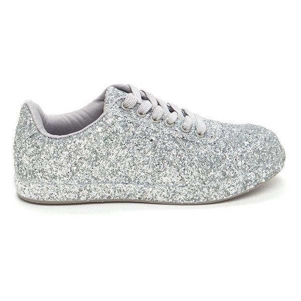 Super Sparkly Glitter Platform Sneakers