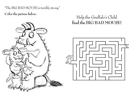 The Gruffalo Mouse Maze – Sprout Coloring Pages for Kids | Sprout